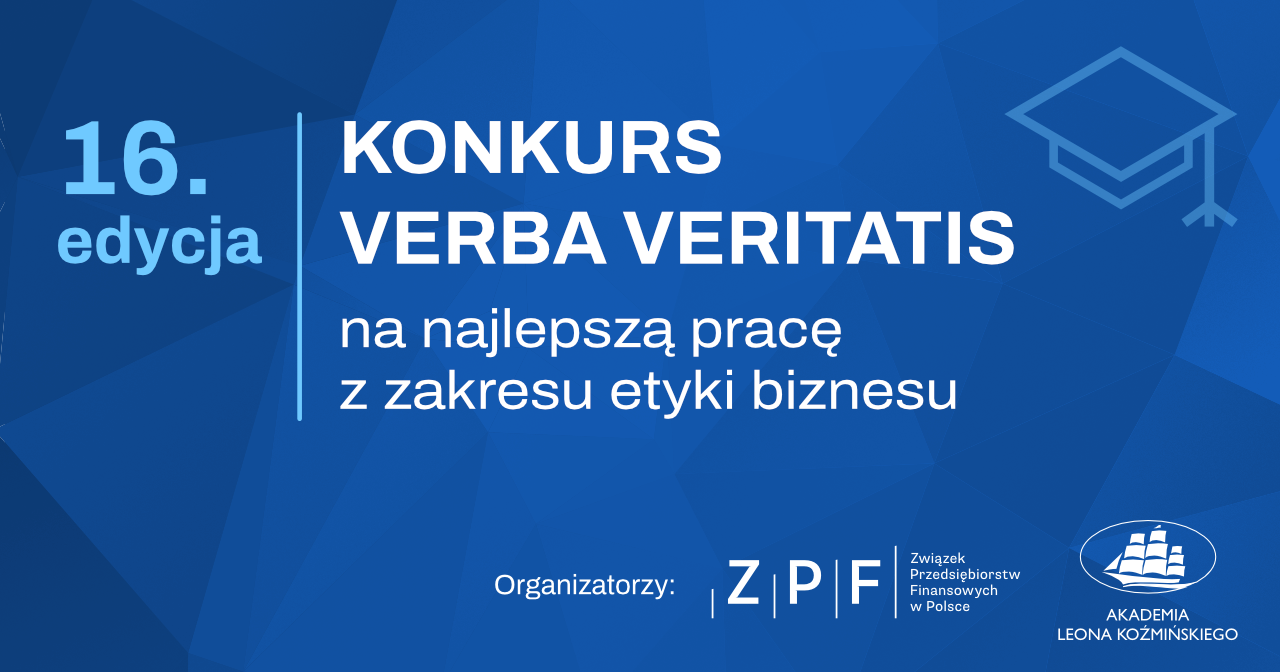 XVI edycja konkursu Verba Veritatis na najlepszą pracę z dziedziny etyki biznesu - Poilish Magazine